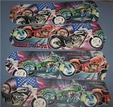 CUSTOM ~ ~LIVE TO RIDE MOTORCYLE CYCLE HOT ROD BIKE USA CEILING FAN with... - $99.99
