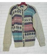 Woolrich Womens Medium Wool Blend Gray Pattern Button Front Cardigan Swe... - $18.46