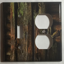 Color Barn Wood Light Switch Outlet Toggle Rocker Wall Cover Plate Home Decor image 8