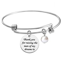 KUIYAI Thank You for Raising The Man of My Dream Expandable Bracelet Bangle Gift