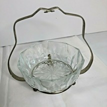 Vintage Silver Jelly Jam Condiment Server with Glass Bowl - $32.75