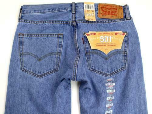Levi's 501 Men's Original Fit Straight Leg Jeans Button Fly 501-0134
