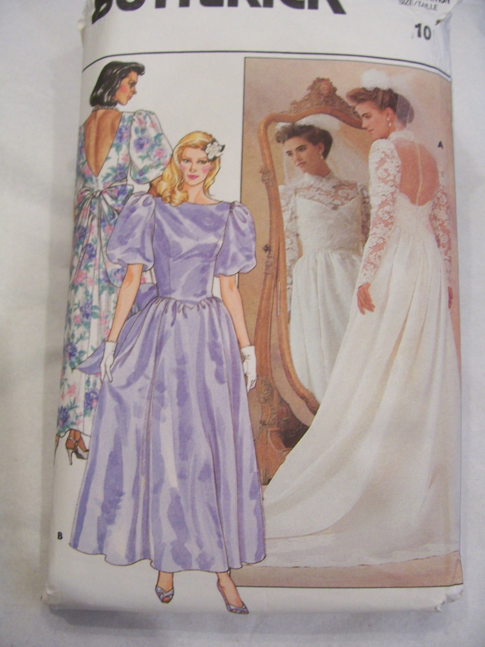 Butterick 3616 bride wedding bridesmaid dress pattern b 32 for Butterick wedding dress patterns