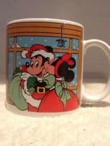 Applause Disney - Mickey Minnie Mistletoe Holly 12 Oz Mug   - 1988 - #30082 - $9.95