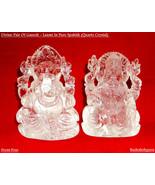 Ganesha - Laxmi In Pure Spahtik / Ganesh Laxmi Pair In Quartz Crystal - ... - $550.00