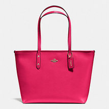 Coach City Zip Tote In Leather F 36875 57522 Br... - $125.00
