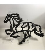 Cast Iron Horse Wall Hanging plaque Rustic Pony Mustang Western Ranch Fa... - $69.99