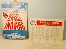 1961 Cleveland Indians Baseball Score Card vs White Sox w/Inside News Flyer - $14.36