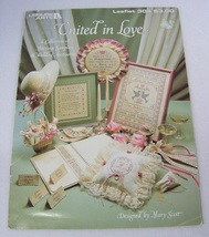 United In Love Marriage Samplers Cross Stitch - $4.00