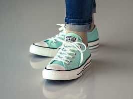 Converse Chuck Taylor All Star Ox Perforated Motel Pool Aqua Low Top Sne... - $45.43 CAD