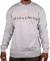 Deadline Grey Dead & Limited Champagne Men's Crew Neck Sweatshirt Sweater NWT