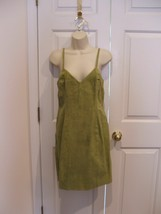 Nwt $299 Newport News Light Olive Suede Fully Lined Dress Sleeveless Size 8 - $91.32