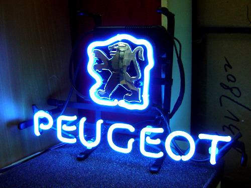 "Peugeot Car Dealership Store Neon Light Sign 14"" x 8"""