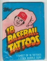 1986 Topps Baseball Tattoos Unopened Pack - $1.73