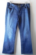 "Nine West Women's Jeans Size 12 Dark Wash Boot Cut 5 Pocket Midrise 9 1/2"" - $14.30"