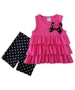 Cutie Pie 12 Mos. Baby Girls Layered Ruffle Top and Polka Dots Short Leg... - $8.99