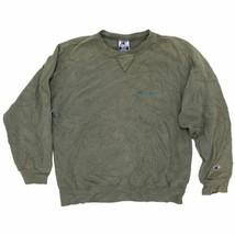 Vintage Champion Crew Neck Sweatshirt Size Medium Green Faded Distressed - $34.99