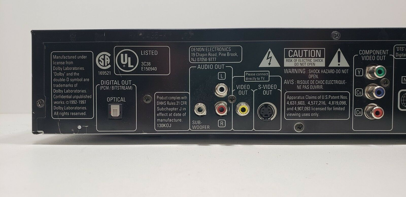 Denon DVD Video Player DVD-800 With Remote Fully Tested image 7