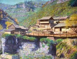 "Syangja - Landscapes / Original Handmade Painting / 31""x 24"" - $245.00"