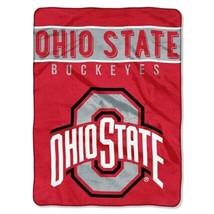 """Ohio State Buckeyes 60"""" by 80"""" Twin Size Raschel Blanket-Basic Design - NCAA - $36.85"""