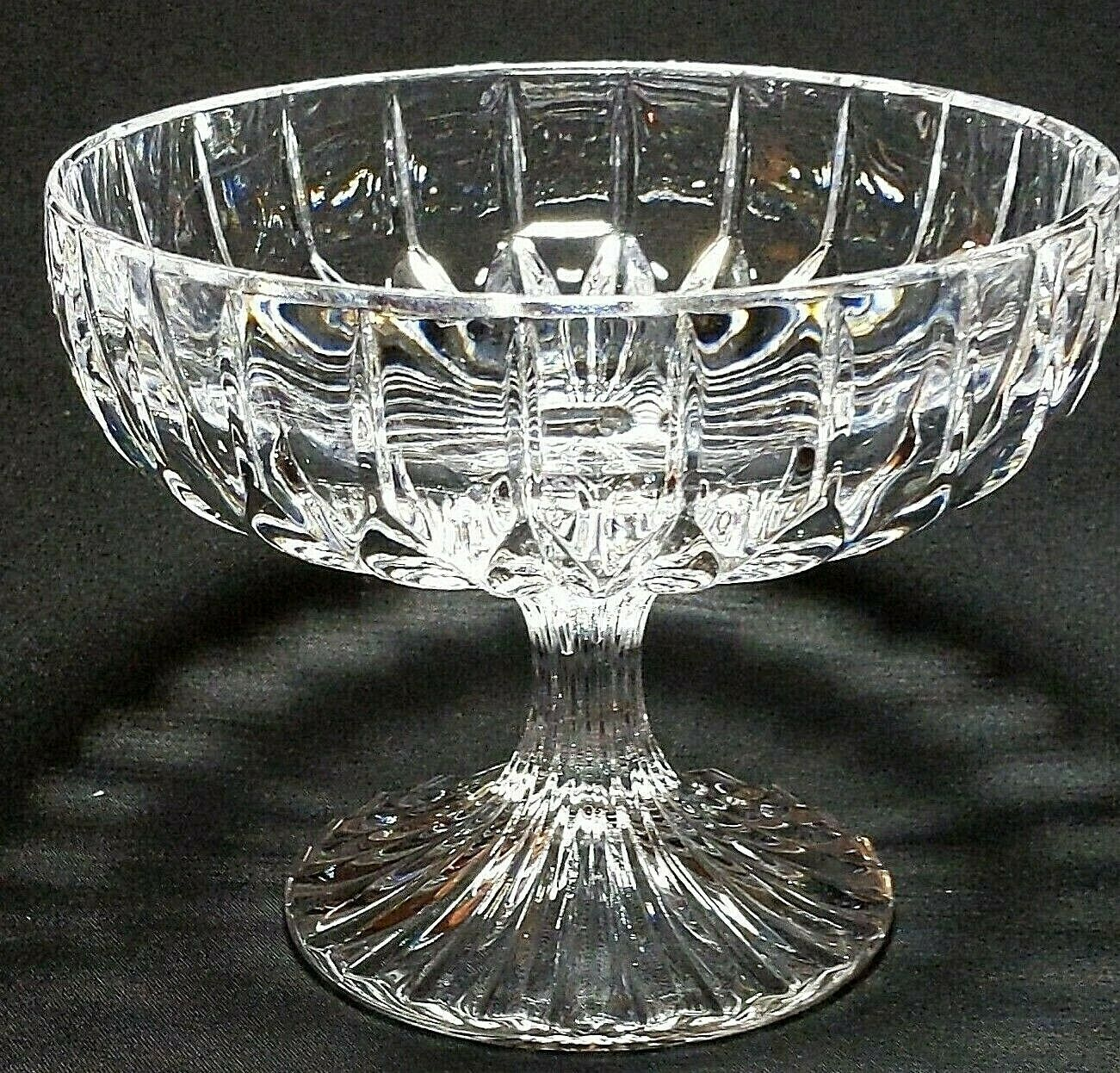"Primary image for 1 (One) MIKASA PARK LANE Cut Lead Crystal Compote Height: 4 1/8"" DISCONTINUED"