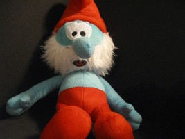"Papa Smurf Plush Stuffed Animal Toy 19"" Peyo 2011 Movie Soft Cuddly The ... - $11.29"