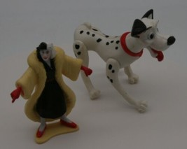 Disney 101 Dalmatians Figure Toy Cake Topper Cruella de Vil Possible Dog Puppies - $2.79