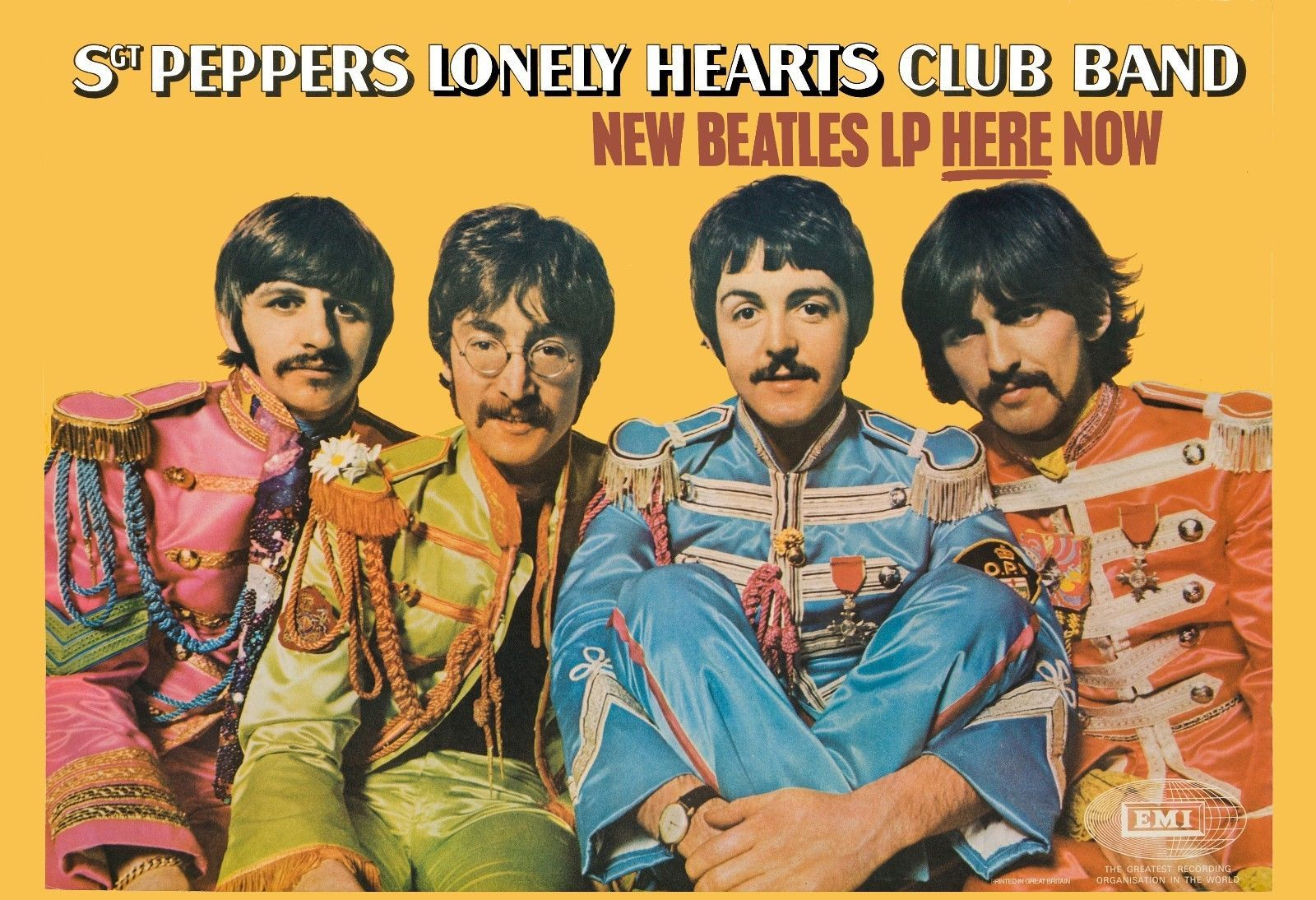 Sgt pepper promo window card