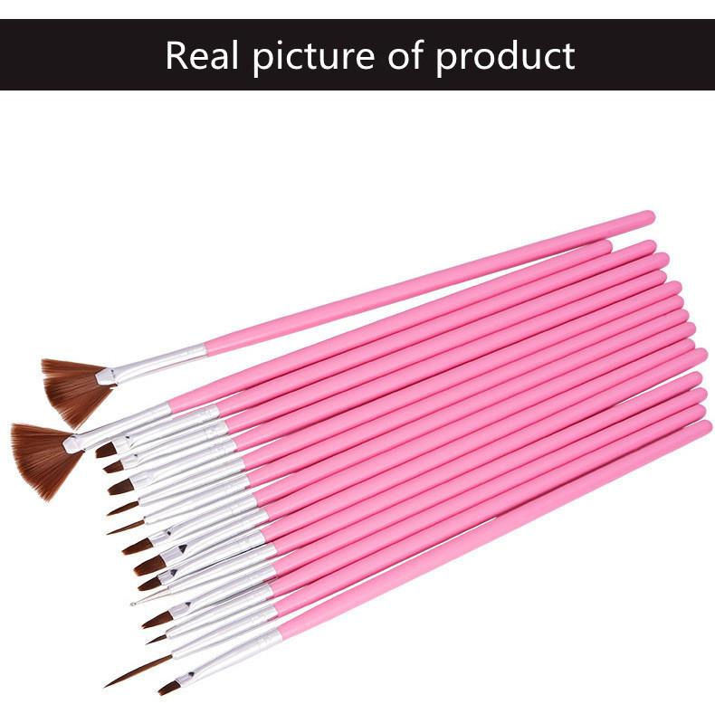 15 PCS Variety Function Toe Nail Art Pen Painting Nail Brush Nail Art Tool