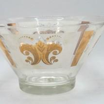 "Vintage Gold Glass Mid Century Serving Bowl 10-1/2"" - $29.69"