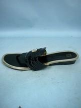 Anne Klein Black Woven Faux Patent Thong Sandals - Size 9 1/2M - $24.53
