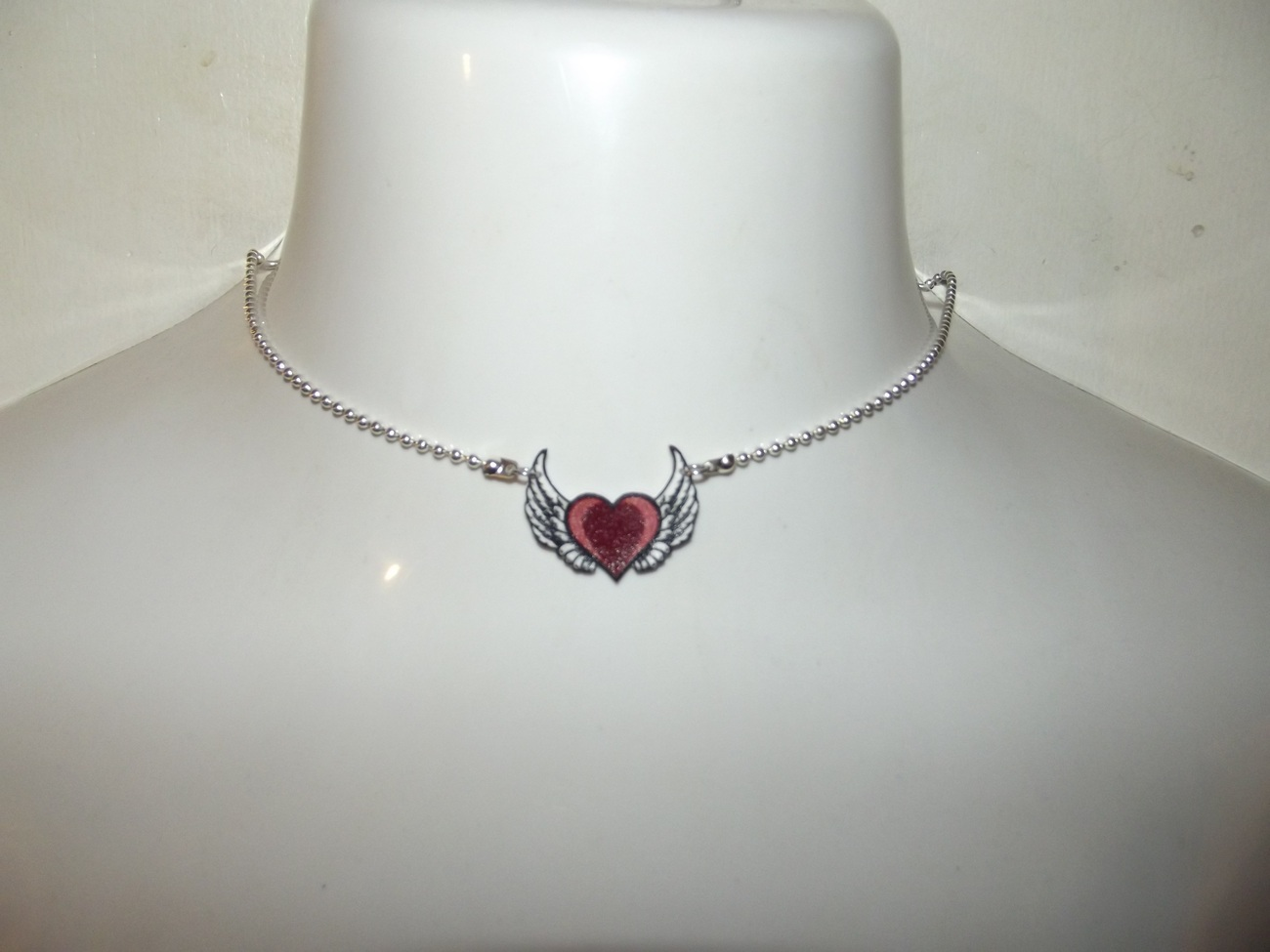 Heart with Big Wings Necklace