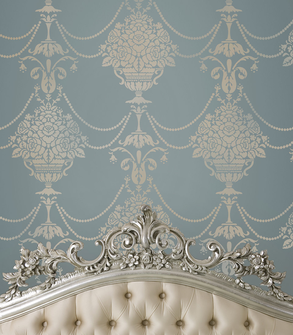 Wallpaper Wall Stencils : Stencil duchess damask diy reusable stencils just like