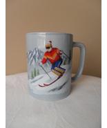 VINTAGE OTAGIRI MUG/CUP DOWNHILL SKIER HANDPAINTED JAPAN - $23.95