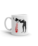 Banksy Lovesick Girl Throwing Up Hearts Artwork Mug - $9.76+
