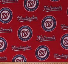 Fleece Washington Nationals MLB Baseball Sports Fleece Fabric Print s14549bf - $12.97