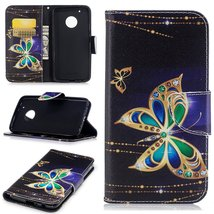 XYX Wallet Phone Case for Moto G5 Plus,[Big Butterfly][Kickstand] Painte... - $9.88