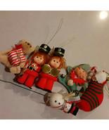 Vintage Christmas Ornaments Styrofoam & flocked 1950s-60s Lot of 6 - $14.84