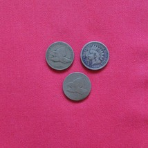 Vintage One Cent Coins - 1857, 1858, 1859  One Cent Coins - 542 - $35.64