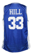 Grant Hill #33 Custom College Basketball Jersey New Sewn Blue Any Size image 2