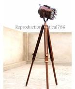 Vintage Photo Shot Studio Floor Lamp Nautical Copper E 27 Spot Lamp Deco... - $98.39