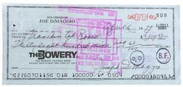 Joe Dimaggio Signed (full signature) Bank Check # 509 BAS A75377 - $334.28