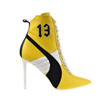 Puma Fenty High Heel Leather Rihanna Women's Shoes Dandelion-White 363038-01 - $240.00