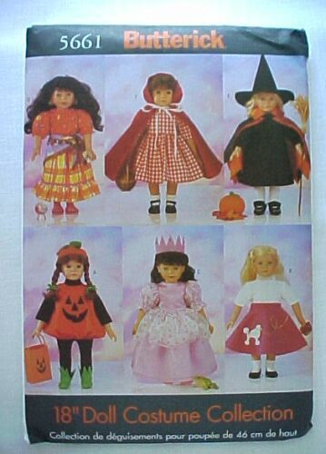 Butterick 5661 Costume Patterns For 18 in. American Girl Dol