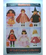 Butterick 5661 Costume Patterns For 18 in. American Girl Dol - $8.50