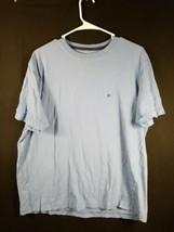 Tommy Hilfiger Mens Blue Short Sleeve Crew Neck Size Large  - $12.19