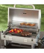 Portable Propane Grill in Stainless Steel Camping Tailgating Picnic BBQ ... - $115.99