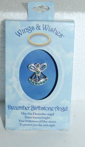 DM Merchandising Wings Wishes WGW12 December Birthstone Angel