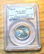 2002-D Louisiana PCGS Graded MS67 State Quarter - $19.95