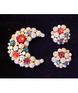 Vintage Sarah Coventry Jewel & Pearl Brooch Pin... - $14.95